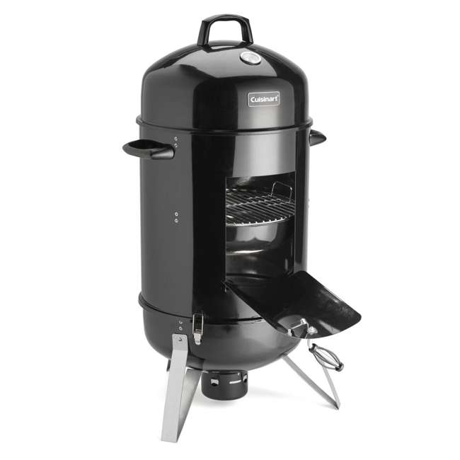 COS-118 Cuisinart COS-118 Vertical 18 Inch Charcoal Smoker Grill w/ Dual Vents, Black 1