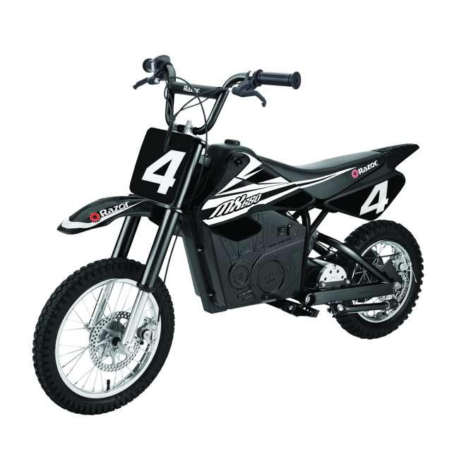 15128008 + 15165001 Razor MX400 & MX650 Electric Toy Motocross Motorcycle Dirt Bike, White & Black 6