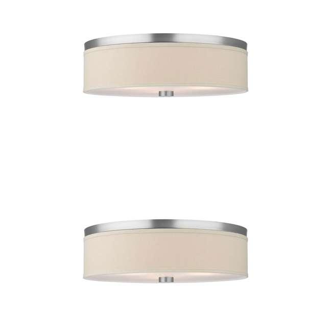 PLC-F131936U Philips Forecast Embarcadero 2-Light Ceiling Light, Satin Nickel (2 Pack)