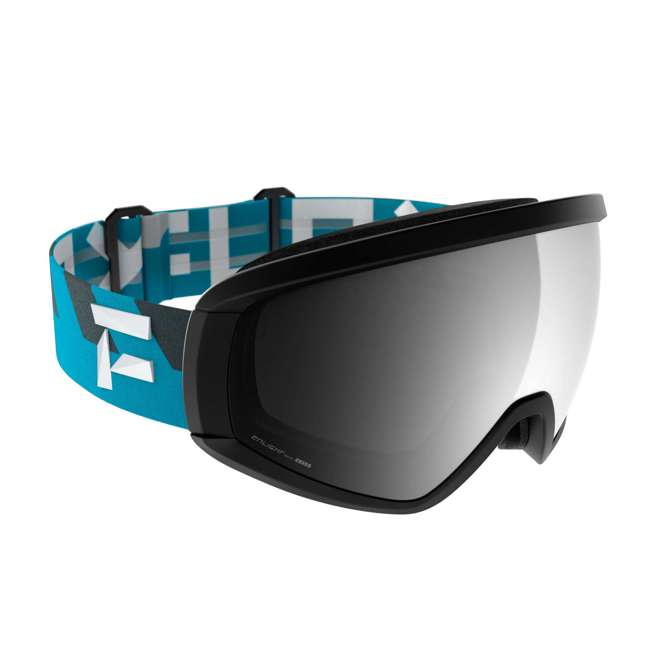 FX801001031ONE Flaxta Continuous Peripheral Vision Snowboard and Ski Goggles, Teal and Black