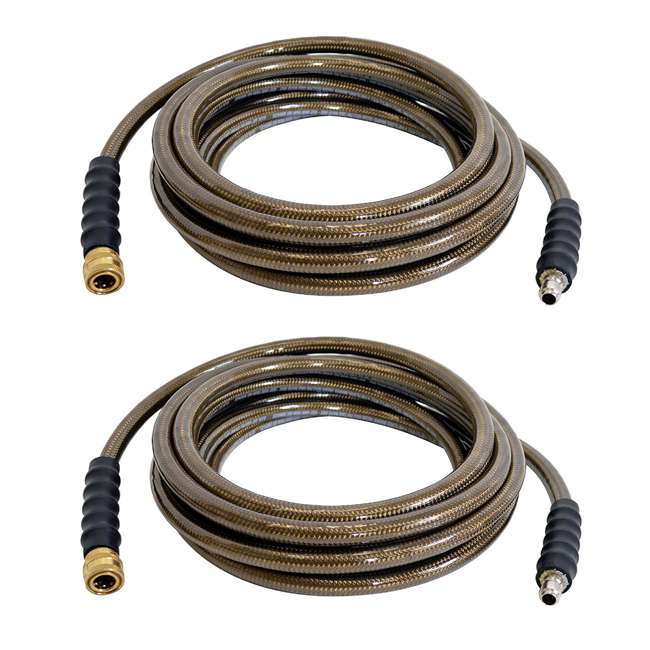 SMPSN-AC-41113 Simpson Monster 4500 PSI Cold Water Pressure Washer Hose, 25 Feet (2 Pack)
