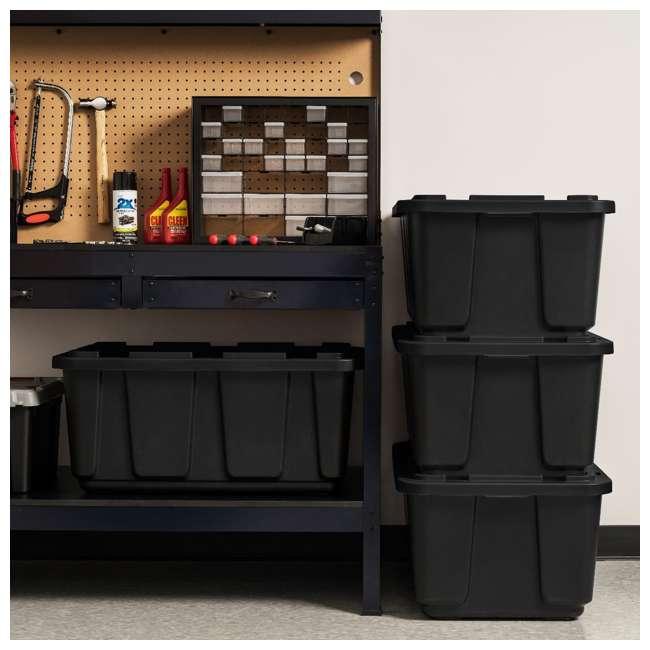 4 x 589090 IRIS USA 589090 27 Gallon Utility Tough Stackable Plastic Storage Tote, Black 4