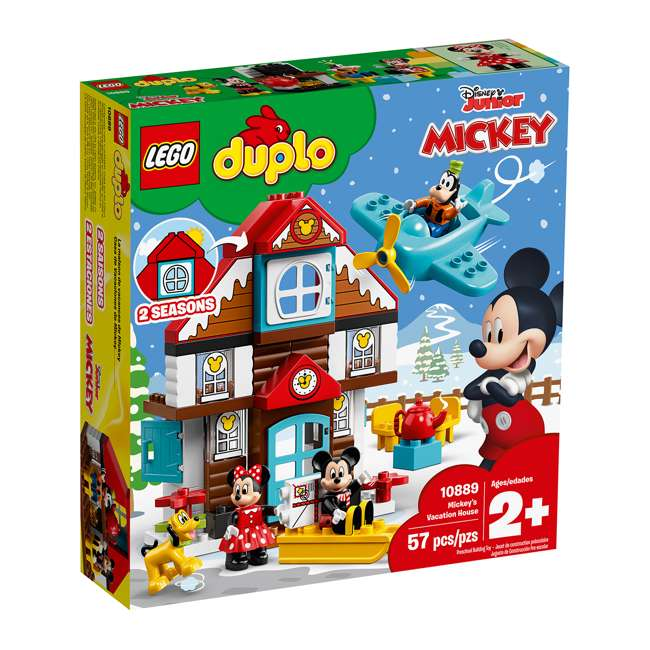6250698 LEGO DUPLO 10889 Disney Junior Mickey's Vacation House Building Kit w/ 4 Figures 3