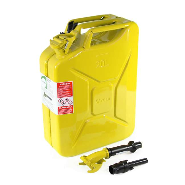3011-WAV-OB Wavian 3011 5.3 Gallon 20L Authentic Fuel Can and Spout, Yellow(Open Box) 2