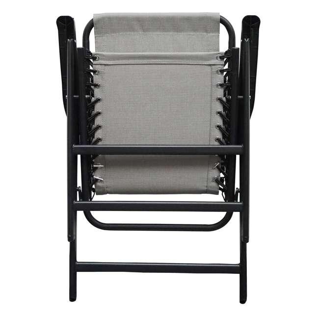 CVAN80012000122-2PK Caravan Canopy Infinity Suspension Folding Chair, Gray (2 Pack) 3