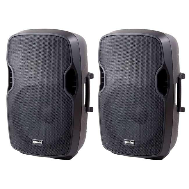 AS-15P Gemini Professional Portable 15 Inch Active Powered Loudspeaker Speaker (2 Pack)