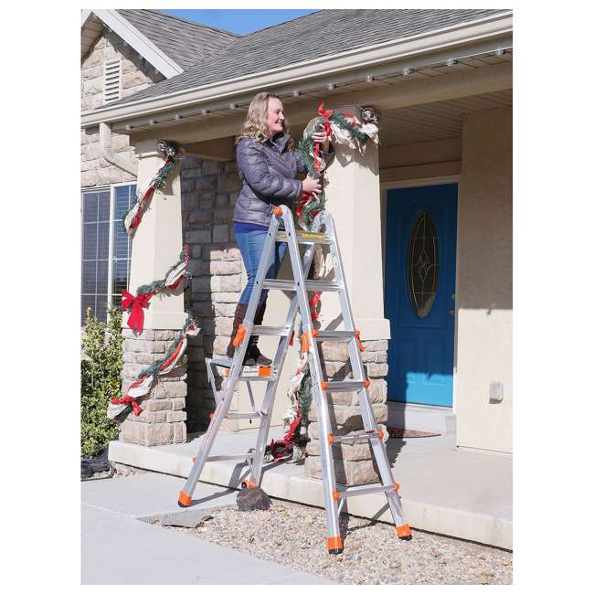 LGL-15417-104-U-A Little Giant 15' Aluminum Adjustable Folding Ladder & Work Platform (Open Box) 3