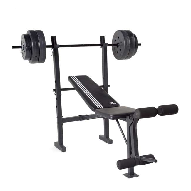 FMS-AD100P-3 ADIDAS COMBO TRAINING BENCH WITH WEIGHT SET, 100 LB