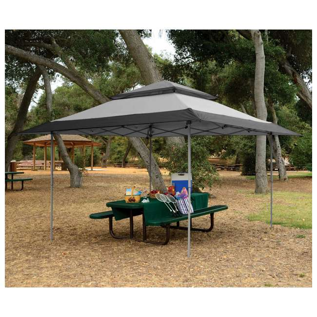 ZS13GAZGRY + ZS13SRGAZVM Z-Shade 13 x 13 Foot Instant Gazebo Canopy Outdoor Shelter with Bug Screen, Gray 3