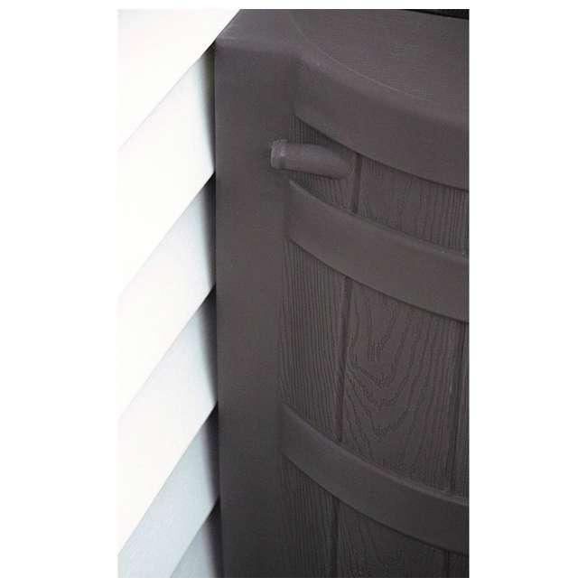 5 x RW50-OAK Good Ideas Rain Wizard 50 Gallon Plastic Rain Barrel with Brass Spigot (5 Pack) 5