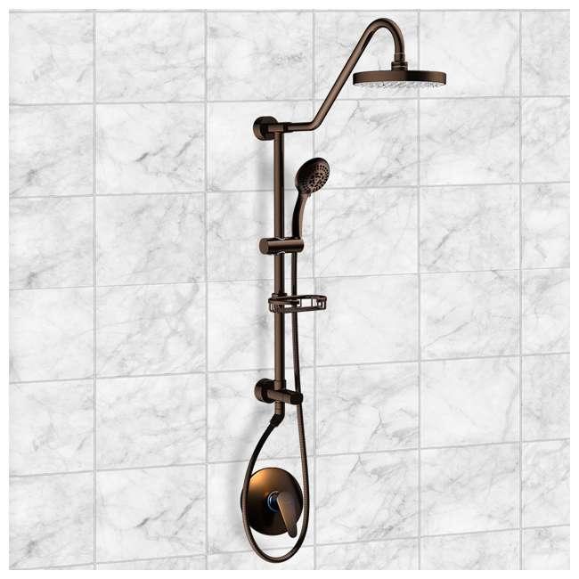 4 x PULSE-1011-ORB Pulse Kauai III Rain Shower Head Spa System, Bronze (4 Pack) 3