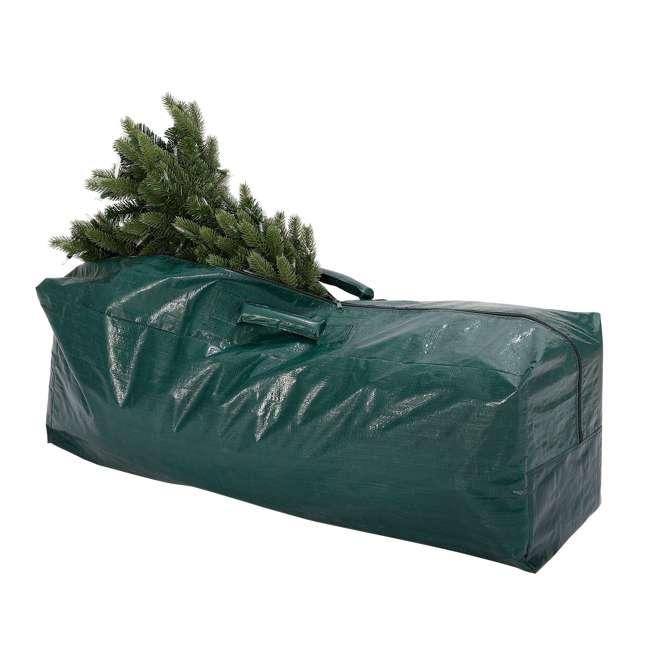 GX0911575033 Home Heritage 57.5 x 15.5 x 21.5 Inch Plastic Christmas Tree Storage Bag, Green 1