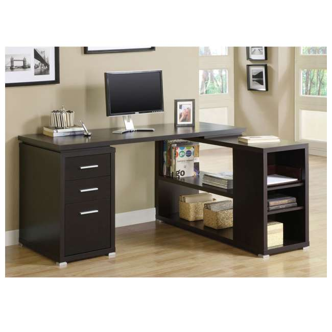 VM-7019-U-A Monarch Specialties Inc. Left or Right Facing Corner Computer Desk (Open Box) 4