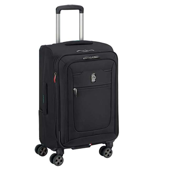 "40229180500 DELSEY Paris 21"" Expandable Spinner Upright Hyperglide Carry On Luggage, Black 3"