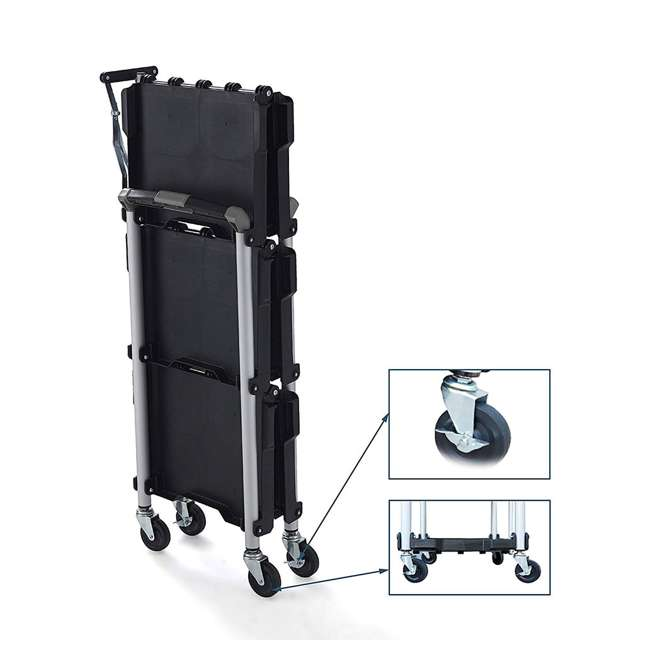 85-188 Olympia Tools 85-188 Pack n Roll Collapsible Storage Service Cart with Wheels 1