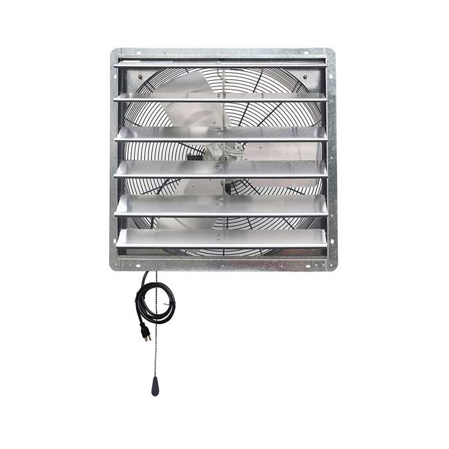 ILG8SF24V-T iLiving ILG8SF24V-T 2 Speed 24 Inch Exhaust Attic Garage Grow Fan w/ Thermostat