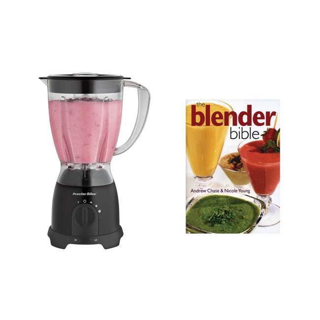 58131Y + BLEND-BIBLE Proctor Silex 58131Y Kitchen Countertop Blender & Blender Bible Over 500 Recipes