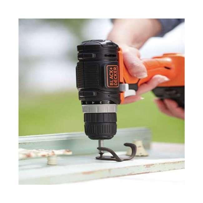 BDCK502C1 + 71-966 + BDMKIT101C Black & Decker Drill Driver Combo Kit & 66 Piece Bit Set & Picture Hanging Kit 5