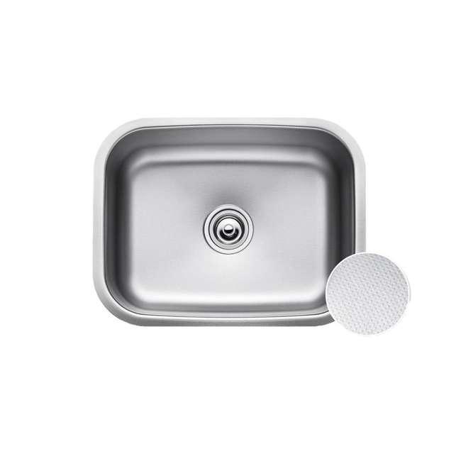 KBU12E-U-A Kraus Outlast 23-Inch Stainless Steel Undermount Single Bowl Sink (Open Box) 1
