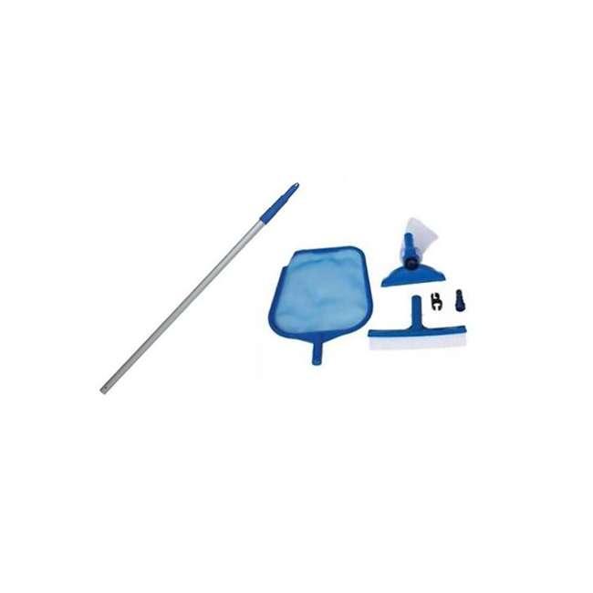 26719EH + 28002E Intex Swimming Pool Set w/ Vacuum Skimmer & Pole  2