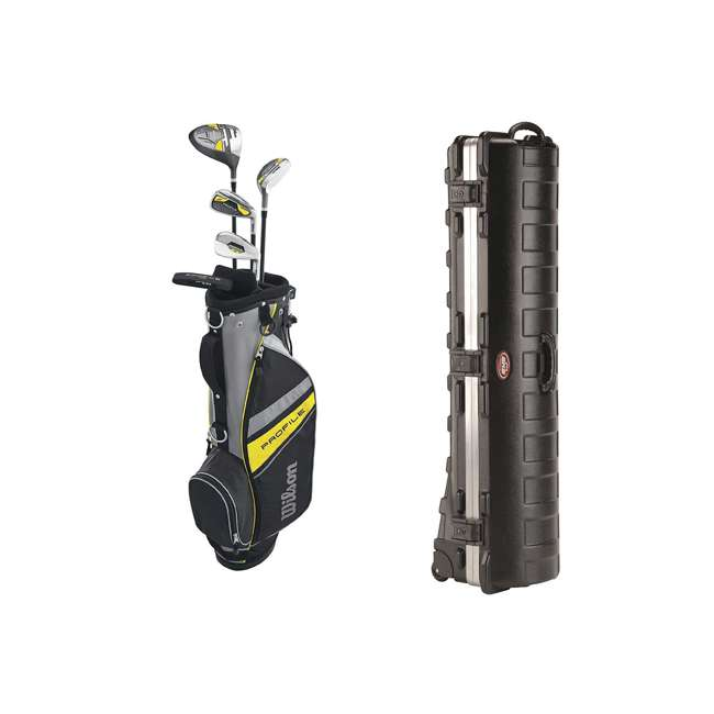 WGGC61200 + 2SKB-1649W Wilson Junior Right Hand Golf Club Set & Wheeled Travel Case