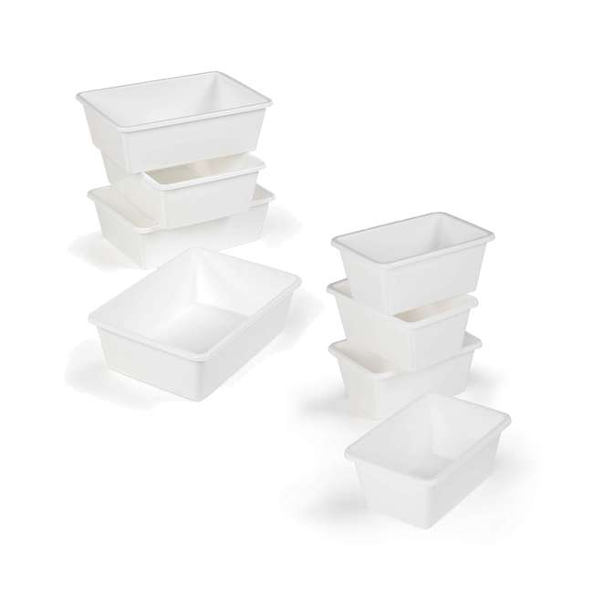 XL688 + SM695 Tot Tutors 4 Large Storage Container Bins and 4 Standard Storage Container Bins