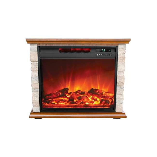 FP1136 Lifesmart FP1136 Large Room Infrared Quartz Fireplace Zone Heater, Faux Stone