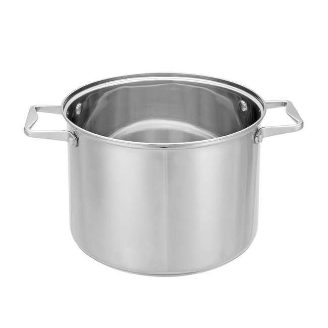 HBO601 + HBL101 Hamilton Beach 8.5 Quart 4 Piece Stock Pot Set + 2.5 Quart Sauce Pan & Lid 2