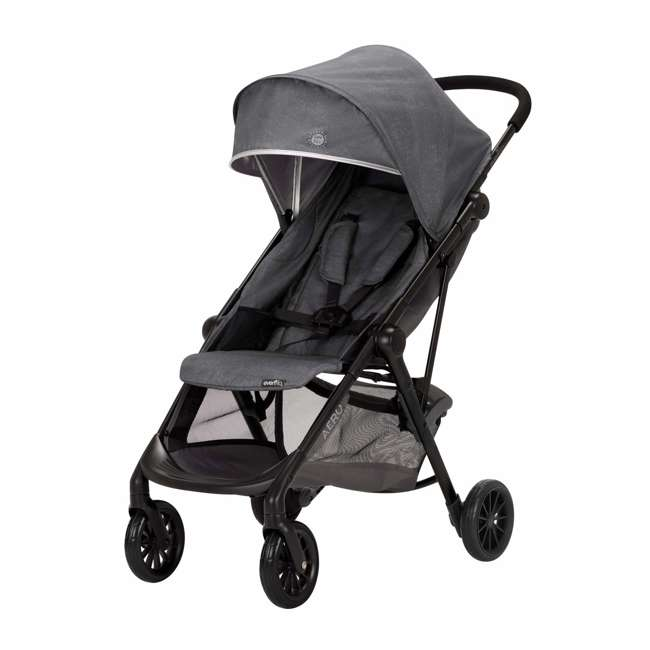19142265 Evenflo Sibby Stroller Travel System with Folding Design and Storage, Charcoal