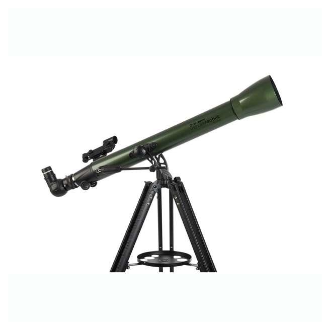 22105 Celestron ExploraScope 60AZ 60x 700mm Telescope, Green (Open Box) 2