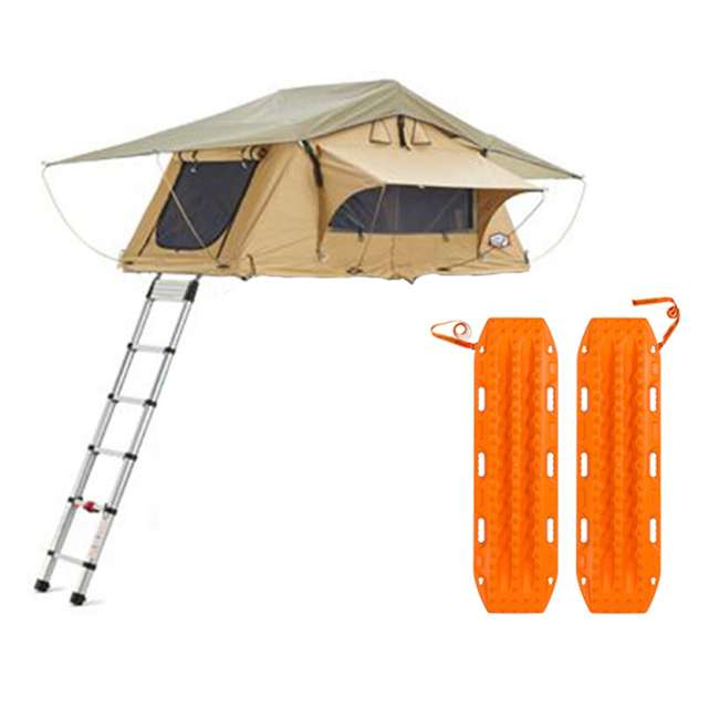 01AYR011606 + MTX02SO Tepui Tents Ayer Explorer 2 Person Car Roof Top Tent & MAXTRAX Recovery Device