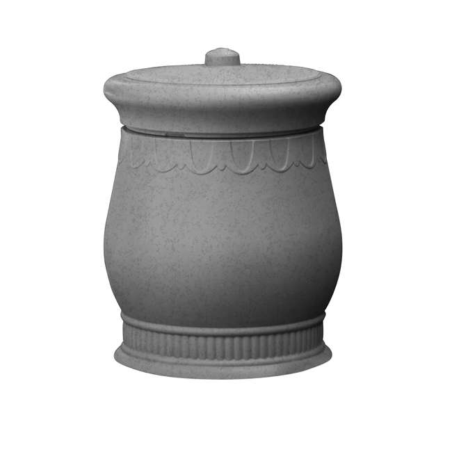 SV-URN-LIG Good Ideas Savannah Decorative 30 Gallon Storage Waste Basket Urn, Light Granite