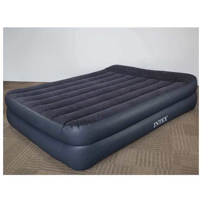 67701E Intex Queen Air Mattress With Built-In Pump And Pillow  3