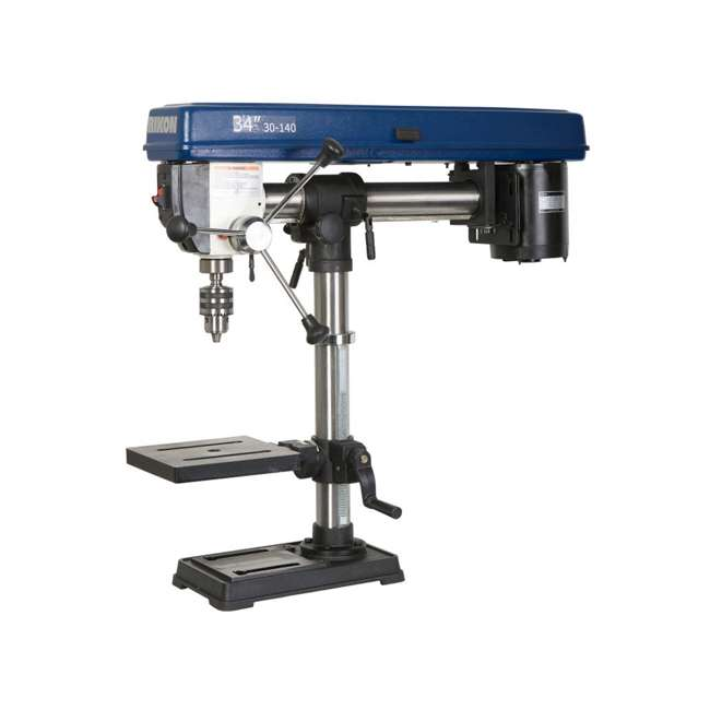 30-140 RIKON Power Tools 30-140 Work Bench Top Swiveling Head Radial Drill Press, Blue
