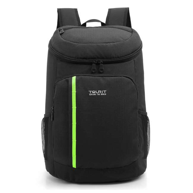 TR0260008B001 TOURIT Cygnini TR0260008B001 Insulated Leak-proof 21 Can Cooler Backpack, Black