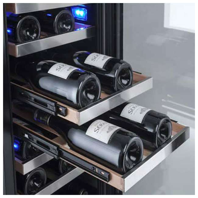 AWC151SZLH + AWC151SZRH Avallon 15 Inch Left & Right 27 Bottle Dual Zone Wine Cooler, Stainless Steel 8