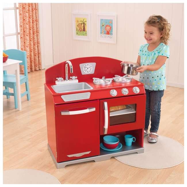 Kidkraft Red Vintage Kitchen 53173: KidKraft Red Retro Kitchen