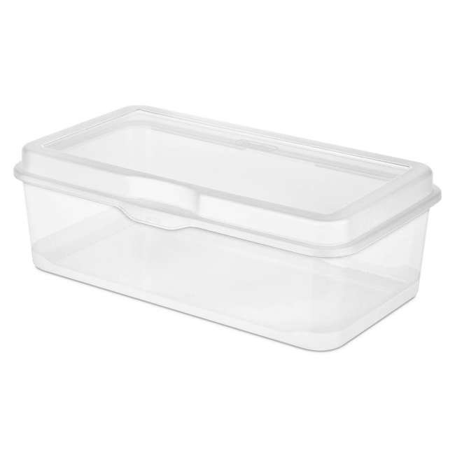 42 x 18058606-U-A Sterilite Plastic Latching Storage Box Container Clear (Open Box) (42 Pack) 1