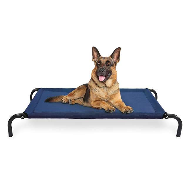 55443435 Furhaven 55443435 Large Mesh Fabric Pet Dog Cot Bed Replacement Cover, Deep Blue 1