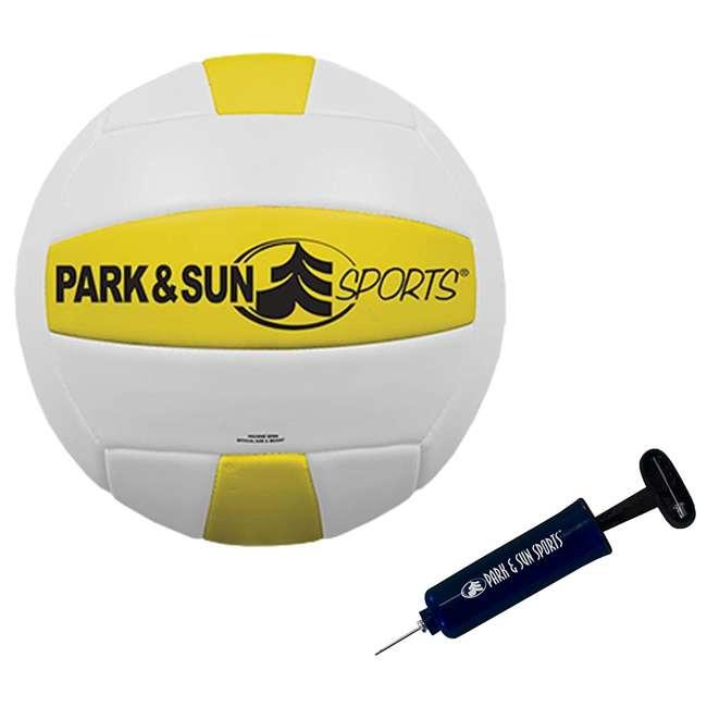 V-SPORT II/RD-U-A Park & Sun Volley Sport Steel Outdoor Volleyball Net Set (Open Box) 2