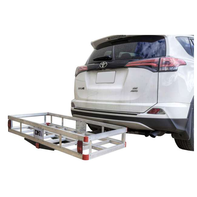 HCC502A Detail K2 HCC502A 500 Pound Trailer Hitch Mounted Aluminum Cargo Carrier Rack 3
