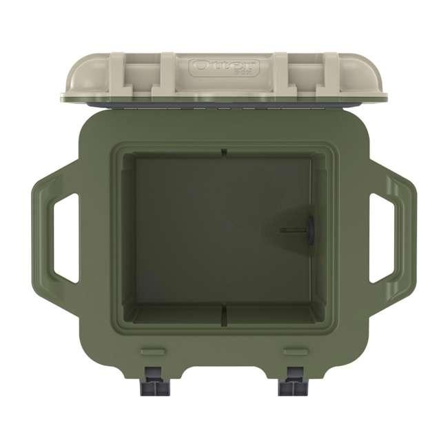 77-54865 OtterBox Venture Heavy Duty Outdoor Camping Fishing Cooler 25-Quarts, Tan/Green 5