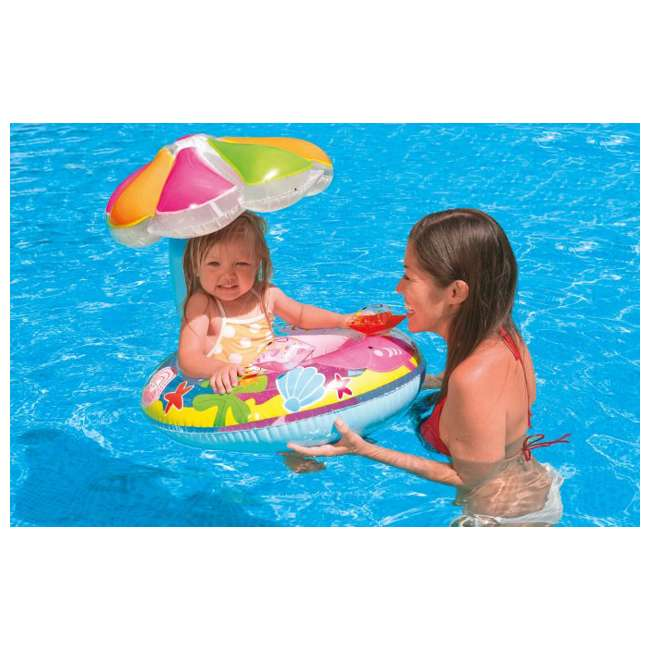 Intex Fish Amp Friends Baby Float With Canopy 56583ep