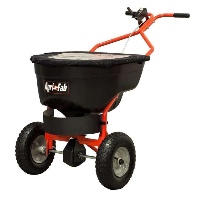 45-0502 Agri-fab 130 Pound Push Spreader for Ice Melt and Fertilizer