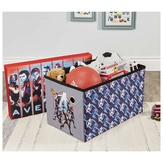 520023-006 Fresh Home Elements 24-Inch Portable Toy Chest & Storage Bench, Marvel Avengers 5