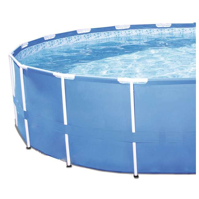 56417E-BW + 28031E Bestway Steel Pro 12-Foot x 30-Inch Frame Pool with Filter & Cover 5