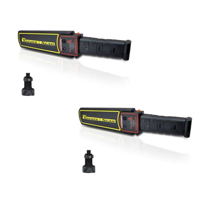 PMD38 Pyle Secure Scan Handheld Metal Detector Wand Scanner (2 Pack)