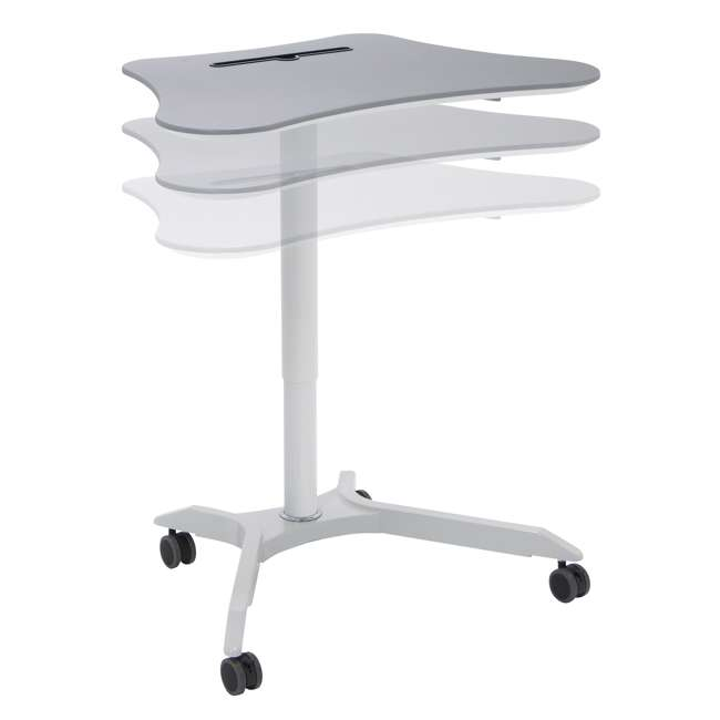 51234 Calico Designs 51234 Cascade Height Adjustable Cart & Work Station, White/Silver 2