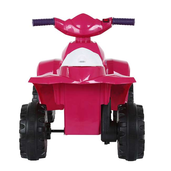 ACQUAD-P-Cam Rollplay 6-Volt Battery Powered Toddler Kids Mini Quad Ride-on, Flower Pink 2