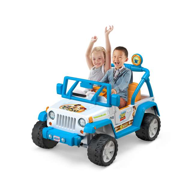 FYX48 Power Wheels Disney Pixar Toy Story Kids Electric 12V Car Ride On Jeep Wrangler 1